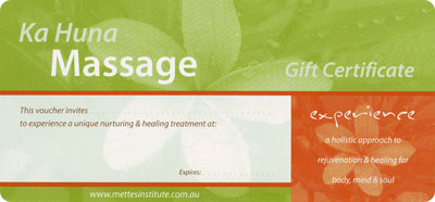 Ka Huna Massage Gift Vouchers Gold Coast